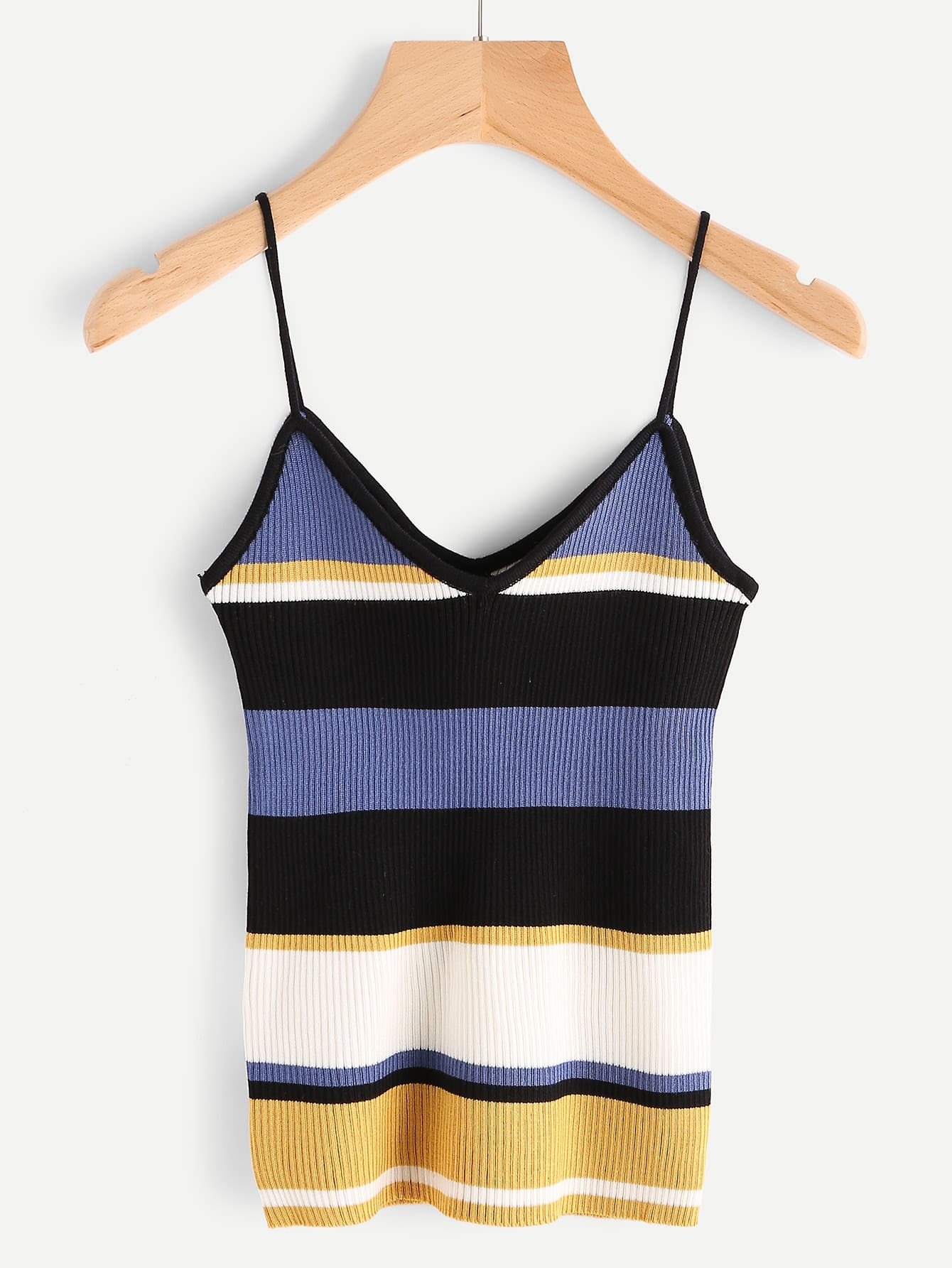 Striped Ribbed Cami Top