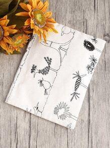 Handtasche mit Hähnchenmuster und Segeltuch