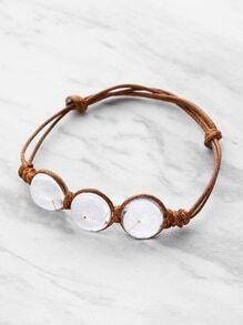Glass Flower Detail Knot Bracelet