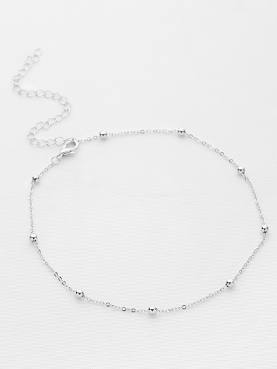 Buy Beaded Detail Chain Choker necklaceNC170424304