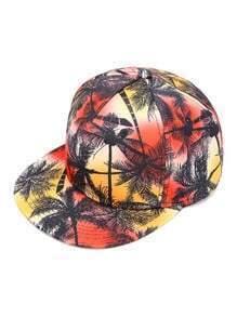 Gorra béisbol con estampado de árbol de palma