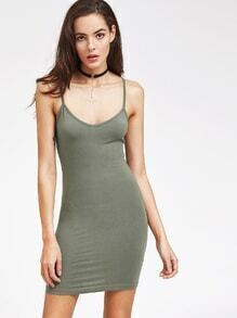 Jersey Bodycon Dress With Adjustable Cami Strap