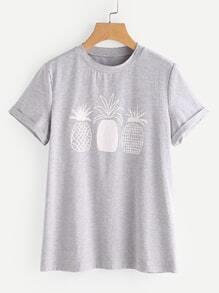 Ananas T-shirt imprimé