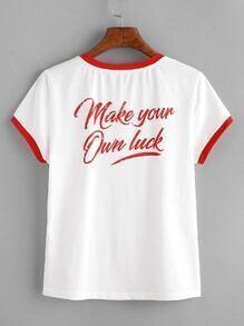 Shirt avec imprimé et garniture de contraste