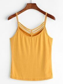 Mustard Strappy Neck Cami Top