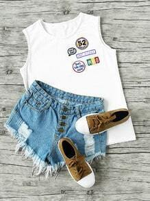 Badge Patch Tank Top
