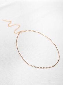 Cadena para muslo con diseño de diamante de imitación