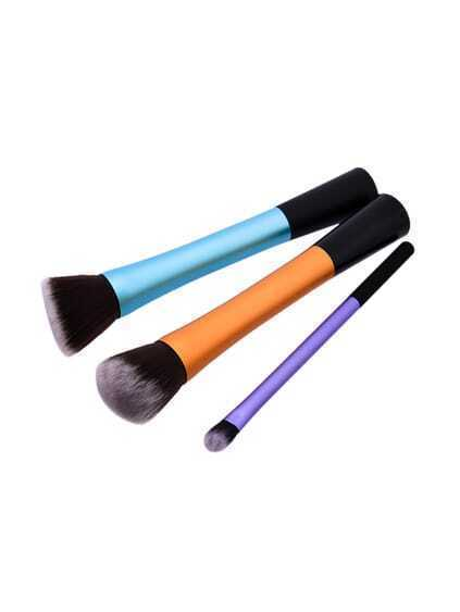 Color Block Makeup Brush 3pcs