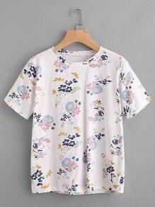 Tee-shirt imprimé fleuri