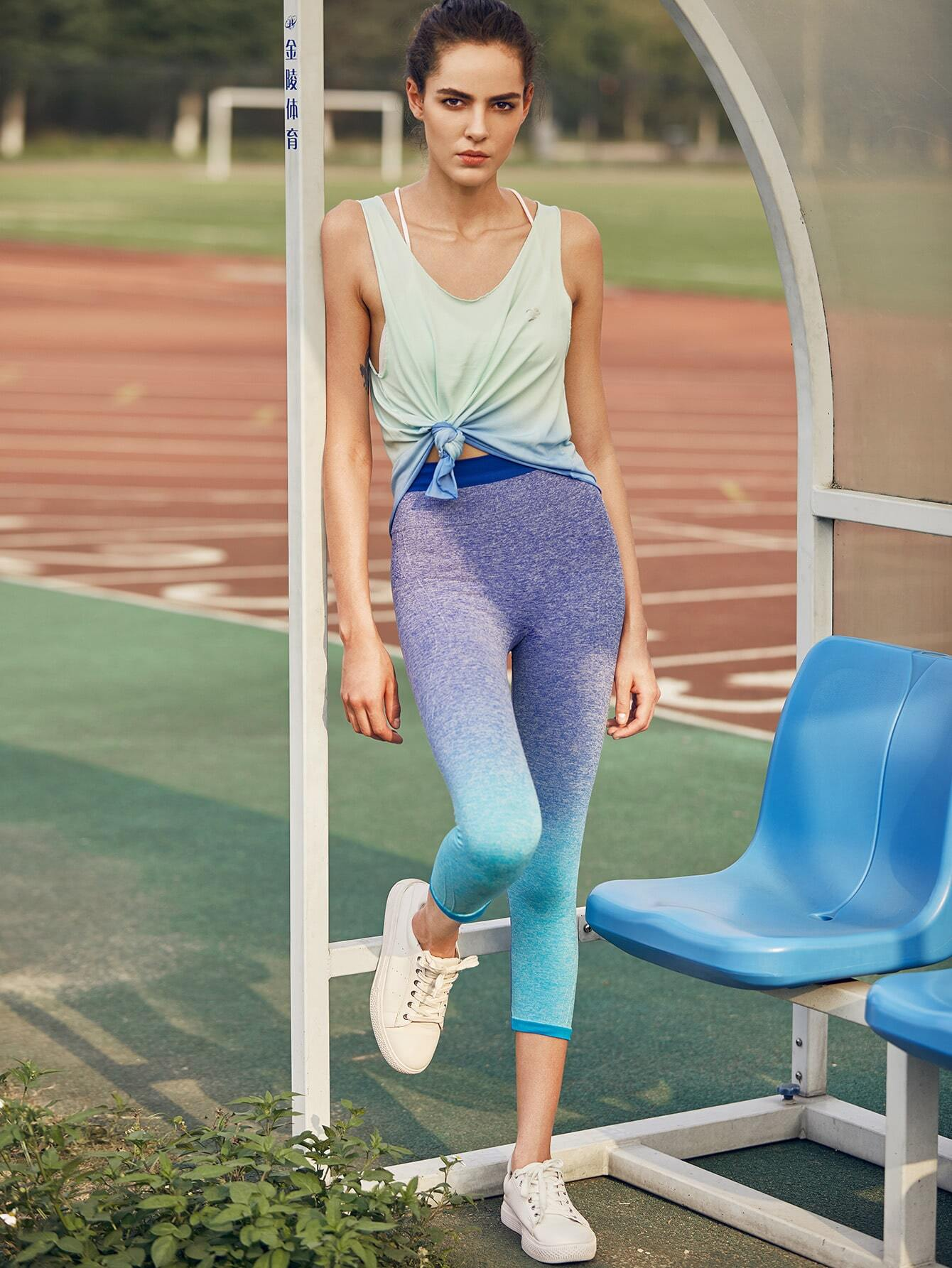 Active Ombre Seamless Capri Leggings