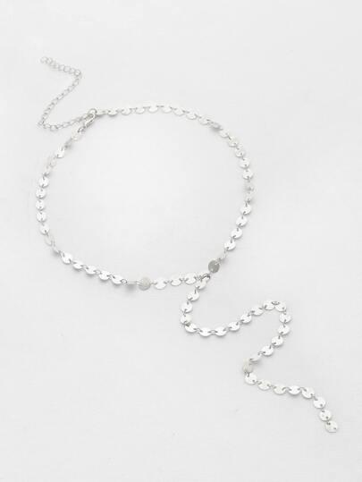 Sequin Design Chain Necklace