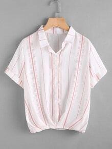 Blusa de rayas verticales