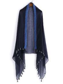 Chevron Trim Tassel Detail Scarf