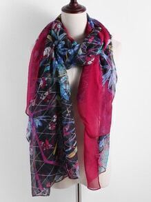 Jungle Print Chiffon Scarf