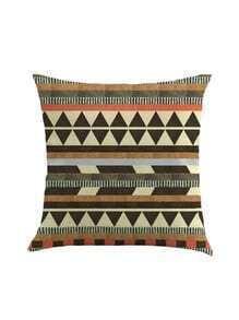 Funda de almohada con estampado geométrico