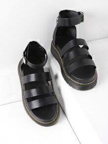 PU Strappy Flatform Sandals