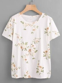 All Over Floral Printed Random Tee