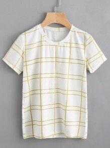 Camiseta de cuadrados