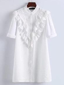 Vestido estilo camiseta fruncido