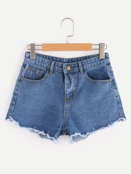 Shorts élimé en denim