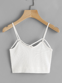 Camisole à bretelle avec un nœud