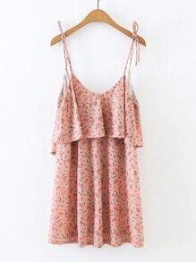 Open V Back Floral Cami Dress