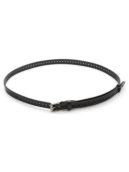 Geometric Cut Faux Leather Belt