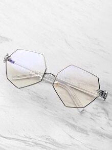 Polygon-Gläser mit klarem Objektiv mit Palmblatt