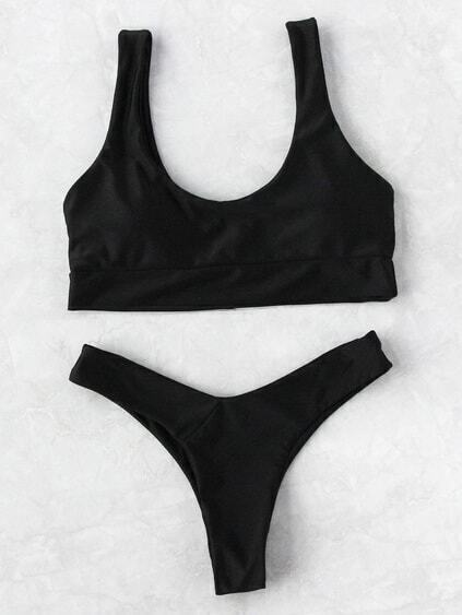 Scoop Neck Beach Bikini Set