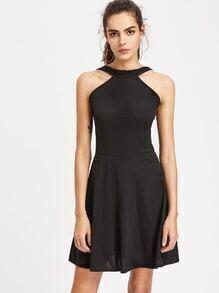 Zip Back A Line Dress