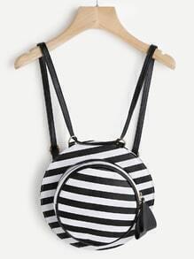 Hat Shaped Striped PU Backpack