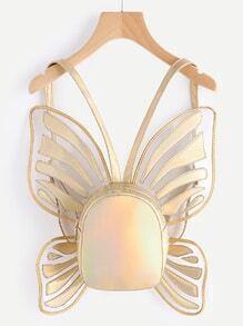 Butterfly Shaped Metallic PU Backpack