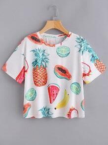 shirt imprimé fruit