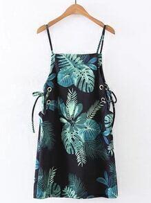 Lace Up Grommet Cami Dress