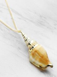Shell Pendant Chain Necklace