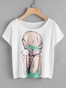 Tee-shirt imprimé d'une fille