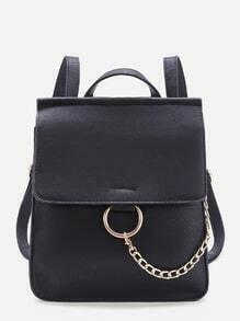 Ring Design PU Backpack