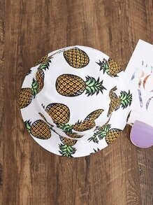 Pineapple Print Bucket Hat