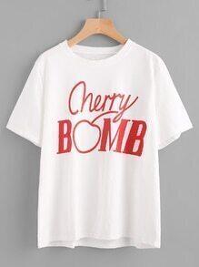 Tee-shirt imprimé du Cherry Bomb
