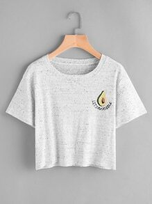 Tee-shirt brodé des fruits