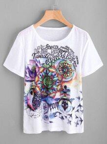 Tee-shirt imprimé des la figure