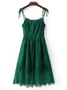 Lace Cami Dress With Tie Detail