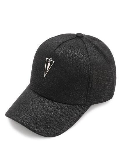 Triangle Embellished Baseball Cap