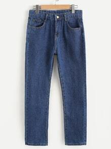 Straight Leg Ankle Jeans