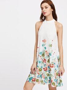motif Halter robe de cou ouverture de la fleur
