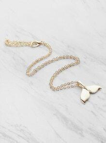 Knospe geformte Halskette