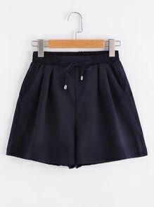 Shorts élastique avec cordon de taille