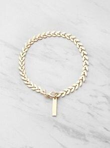 Leaf Shaped Chain Bracelet