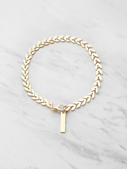 Leaf Shaped Chain Bracelet