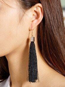Tassel Decorated Long Drop Earrings